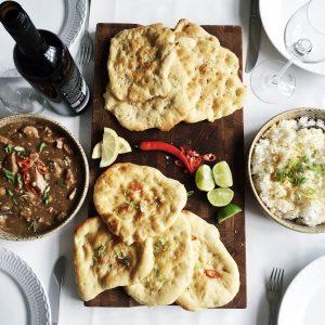 Indisk naanbrød