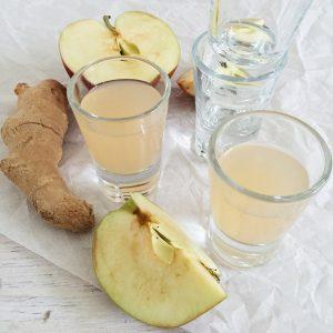 Ingefærshots med æble