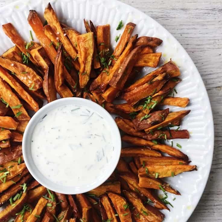 Sødekartoffel fritter – lækre sweet potato fries