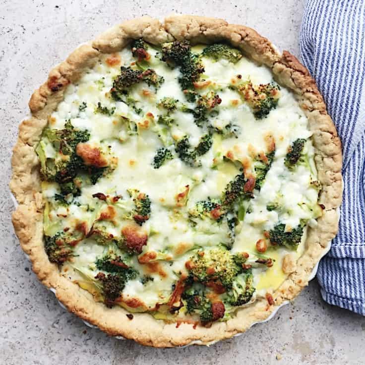 Broccolitærte – sund opskrift med hytteost