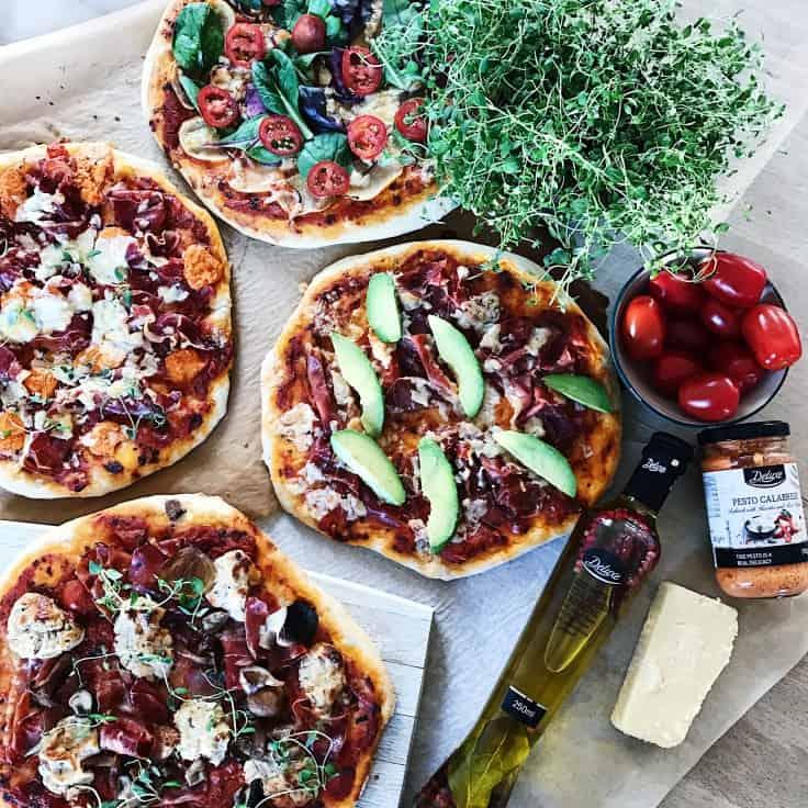 Deluxe pizzaer og familiehygge