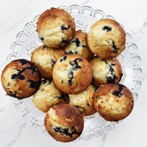 Muffins med blåbær