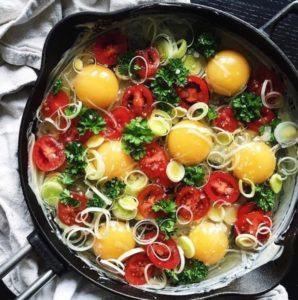 Ingredienser til omelet