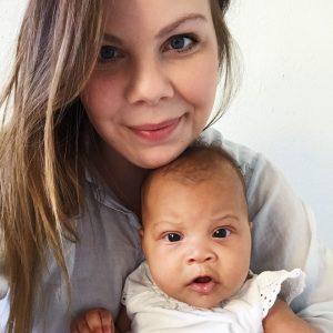Maria Vestergaard er ung mor