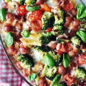 Pølseret med grøntsager