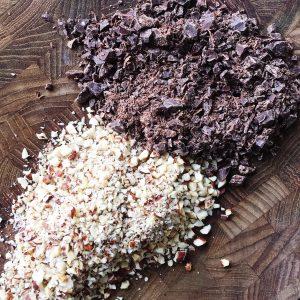 Chokolade og nødder