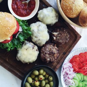 Hjemmelavet burgerbøf