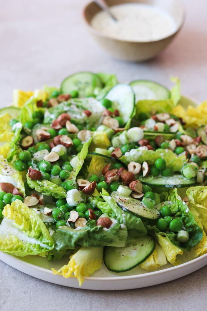 Grøn salat med agurk