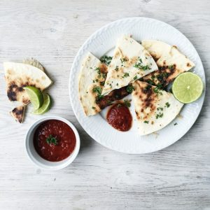 quesadillas med salsa