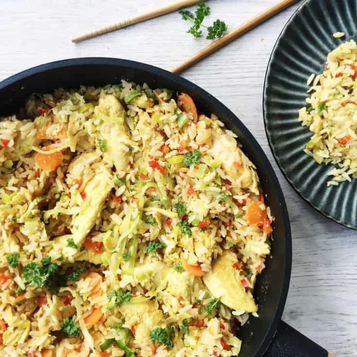 opskrift stegte ris med grøntsager