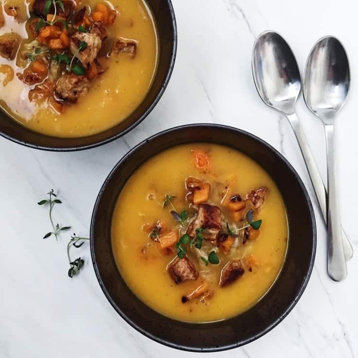 Græskarsuppe – lækker butternut squash suppe