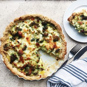 Tærte med broccoli