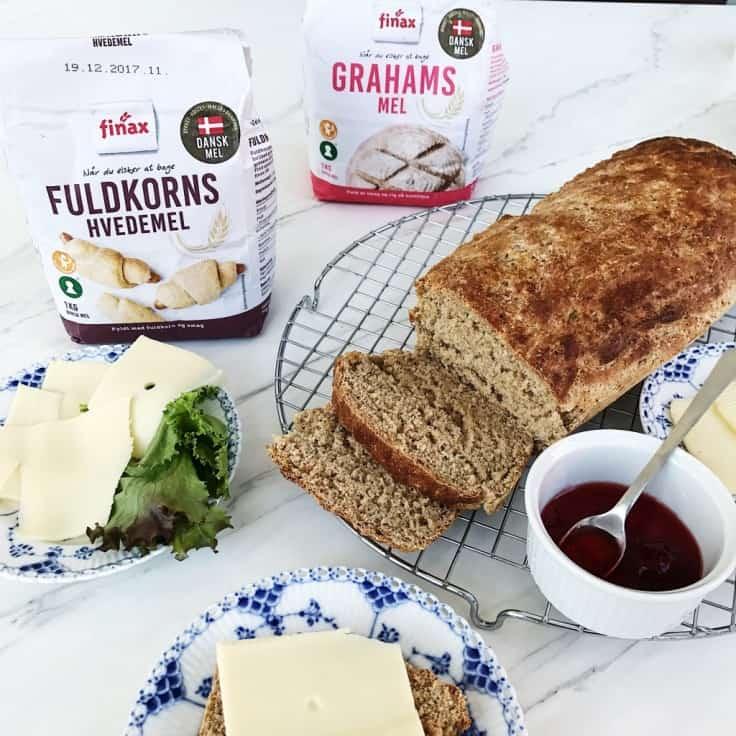 Fuldkornsbrød med dansk grahamsmel