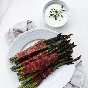 Asparges med skinke