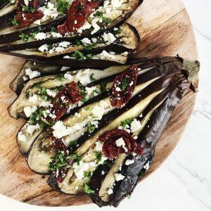 Couscous salat med auberginer