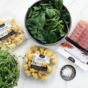 Ingredienser til pastaret