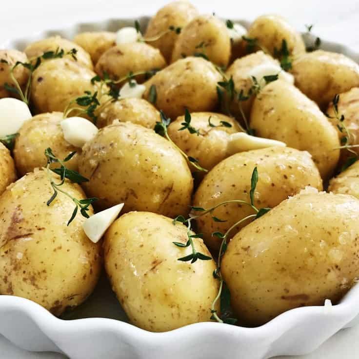 Græske kartofler med hvidløg