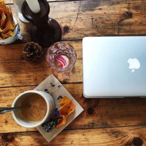 Arbejdsplads på cafe Fleuri