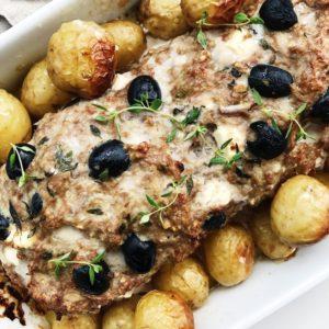Græsk farsbrød med oliven