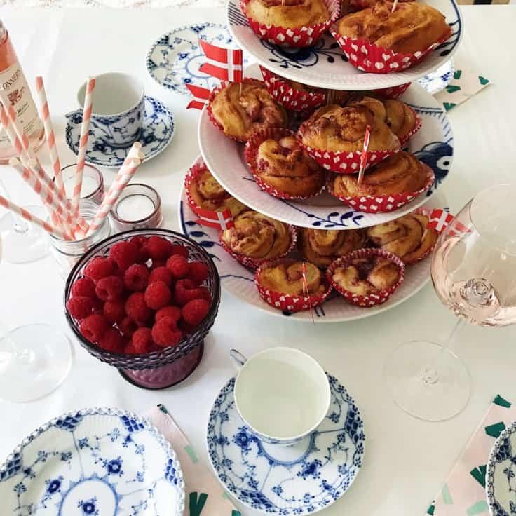 Frugtsnegle med hindbær og hvidchokolade