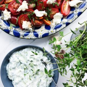 Salat med tomat