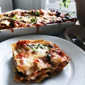 Lakse lasagne