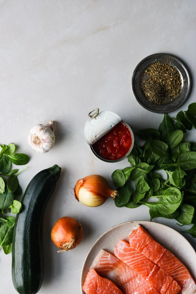 Ingredienser lakselasagne