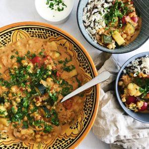 Gryderet med indiske krydderier