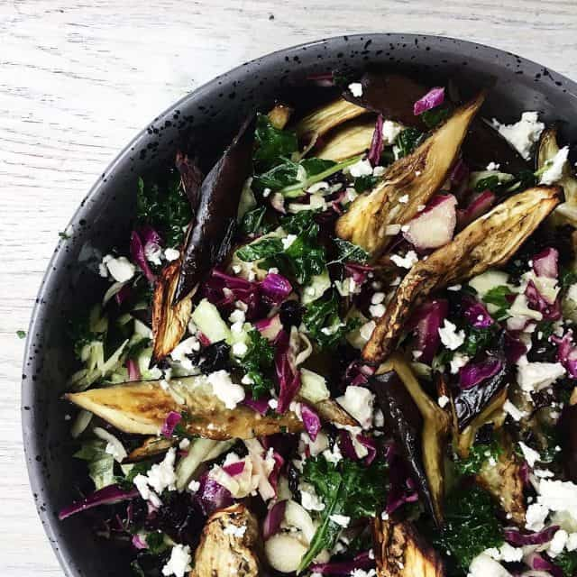 Den smukkeste klsalat med aubergine og fetaost opskriftpbloggen