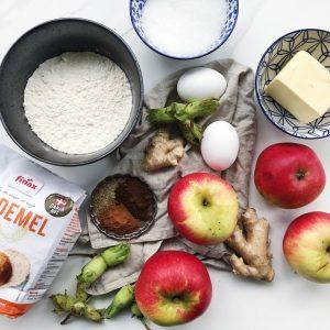 Ingredienser æblemuffins