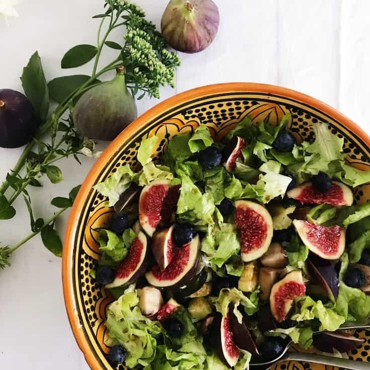 Salat med figner og stegt squash