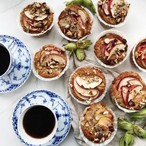 Æblemuffins med kage
