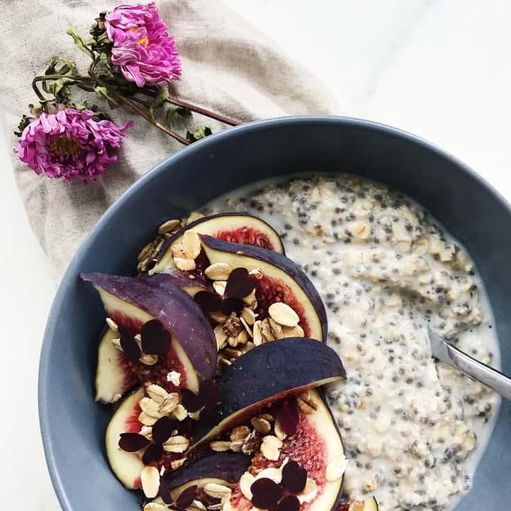 Overnight oats – opskrift med chiafrø