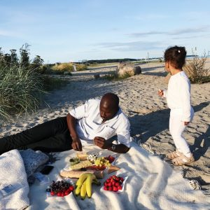 Picnic på stranden