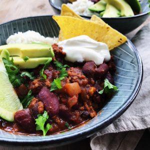 chili con carne okseklump