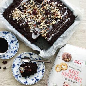 Kage med chokolade
