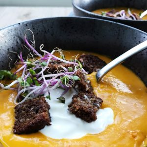 Hokkaidogræskar suppe