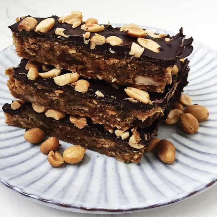 Snickers – hjemmelavet sund peanutbar