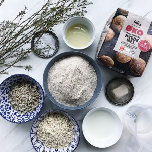 Groft brød ingredienser