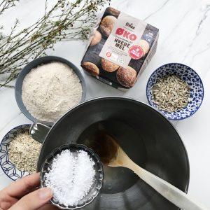 Ingredienser groft brød