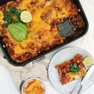 Mexicansk lasagne med bønner