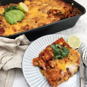 Mexicansk lasagne ingredienser