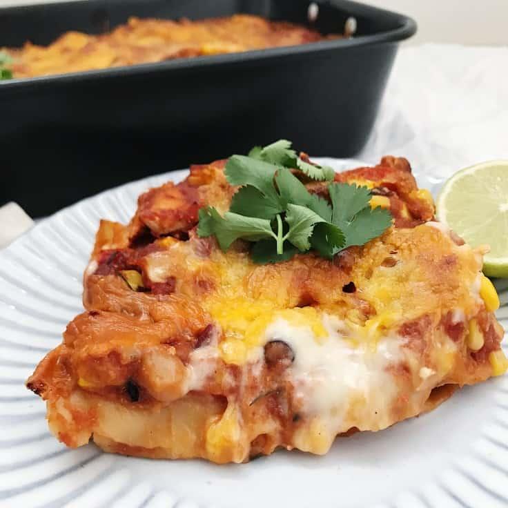 Mexicansk lasagne med kylling