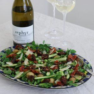 Salat med asparges