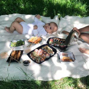 Børn og sushi