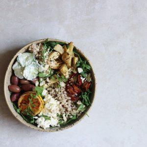Rucolasalat med oliven