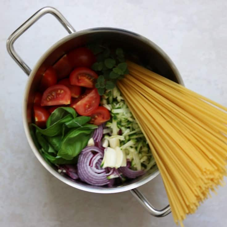 Vegetarisk one pot pasta