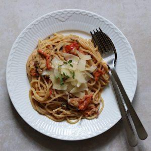 Vegetarisk one pot pasta opskrift
