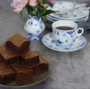 Brownie med kaffe opskrift
