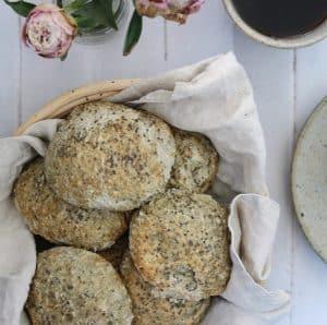 Morgenmadsboller med chiafrø